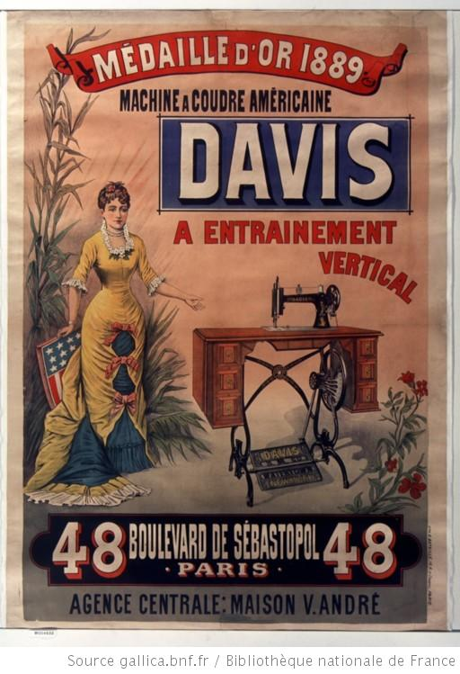 machine à coudre Davis 1889