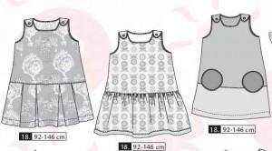 Patron robe trapèze fille Ottobre