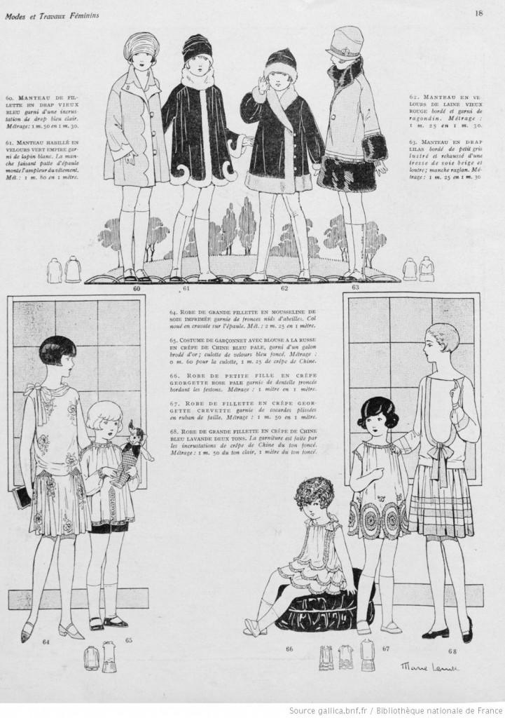 manteaux et robes enfants 1926