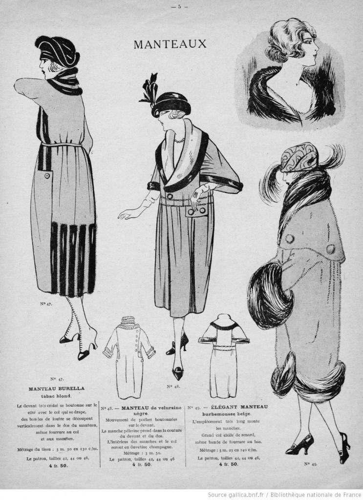 Manteaux années 20