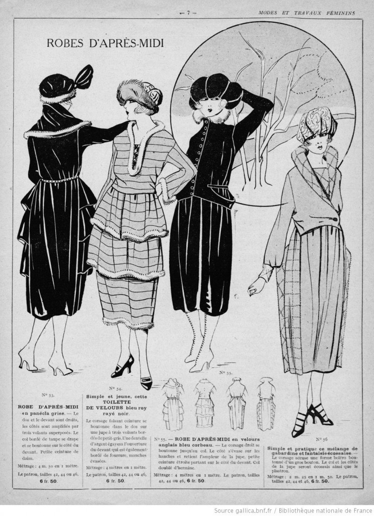 couture Robes d'apres-midi années 20