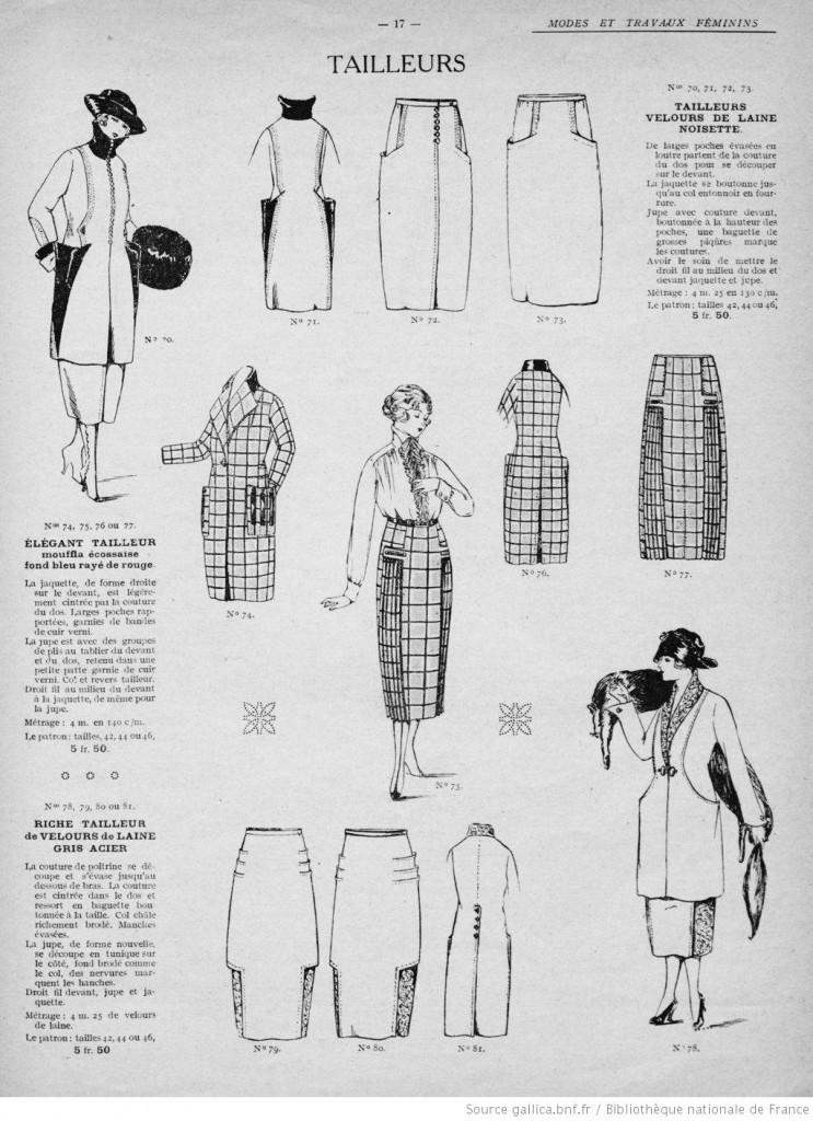 Tailleurs femme années 20 jupe et veste