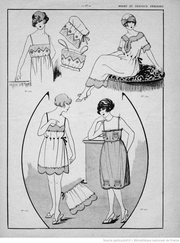Lingerie vintage années 20