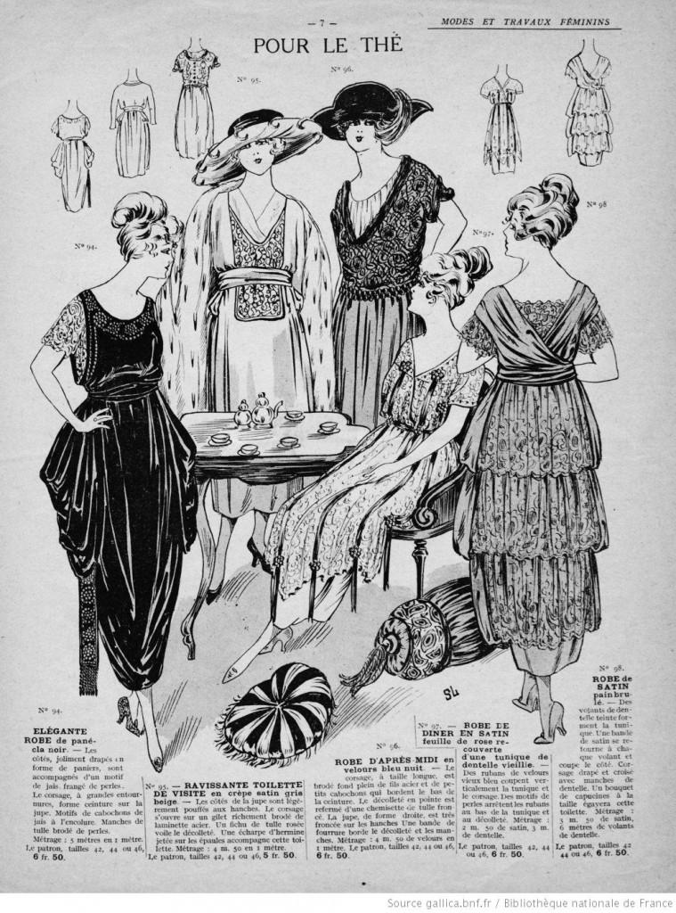 couture Robe pour prendre le thé années 20