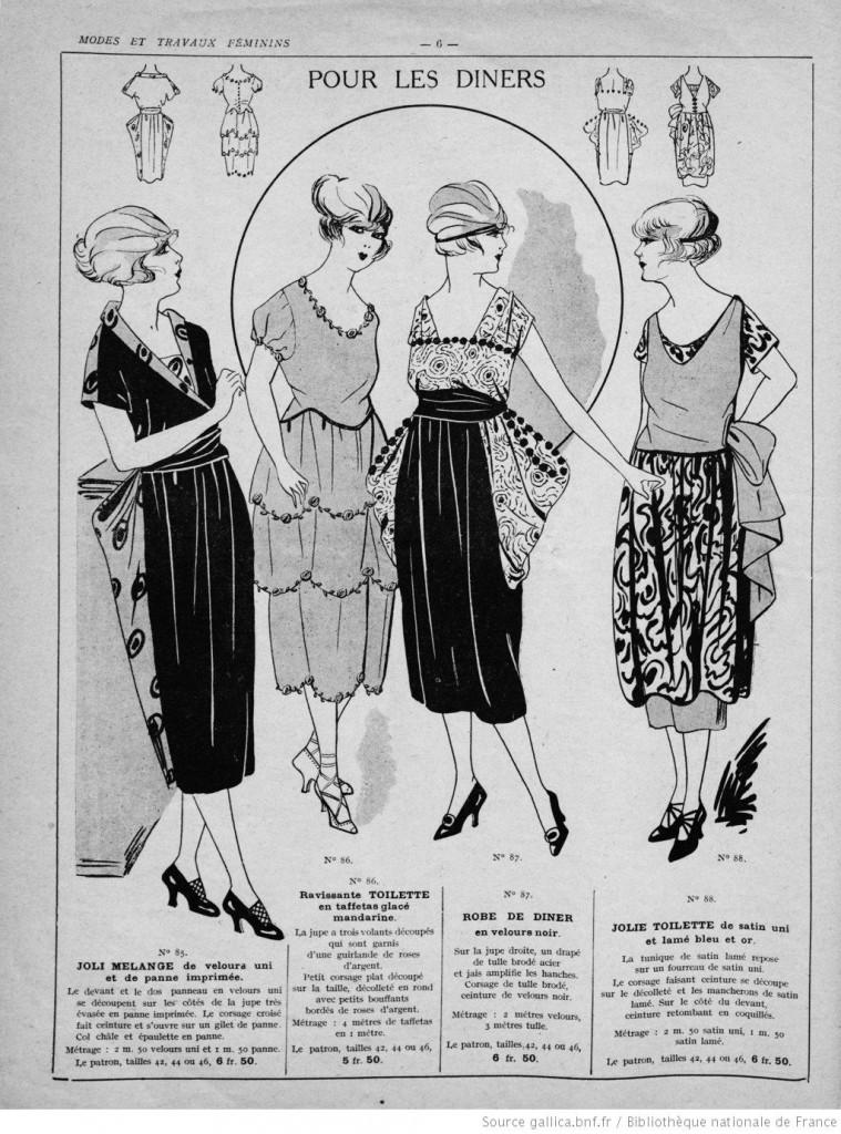 partons robes pour les diners années 20