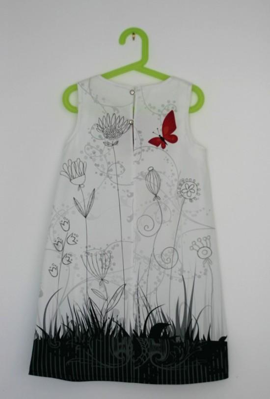 Dos robe coquelicot Lalimaya