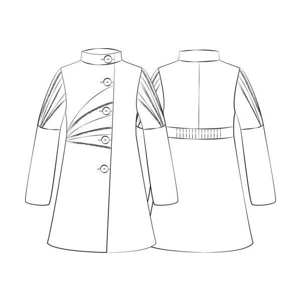Manteau origami dessin couture stuff - Manteau dessin ...