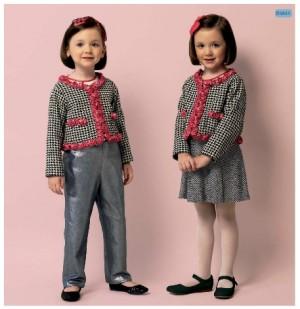 patron veste style chanel enfant