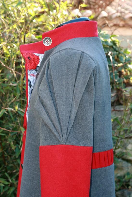 Origami manteau profil
