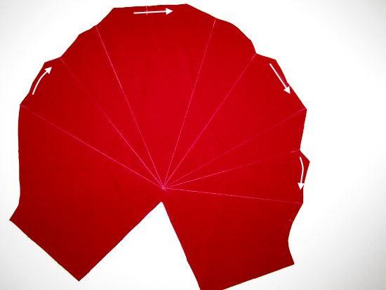 Tuto manche plis origami