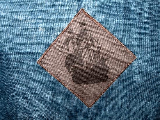 Détail appliqué bateau pirate
