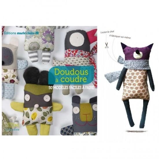 Kit de couture livre + doudou à coudre