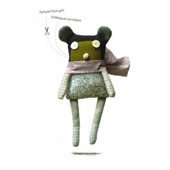 Kit de couture doudou ours