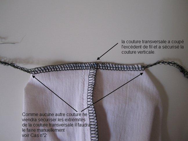 Surjeteuse : arrêter une couture