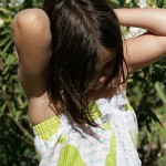 robe fillette tissu japonais