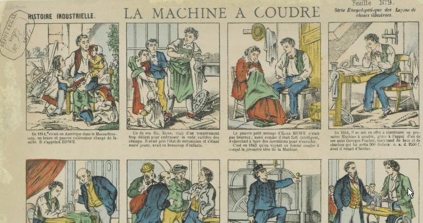 Histoire de la machine à coudre 1881