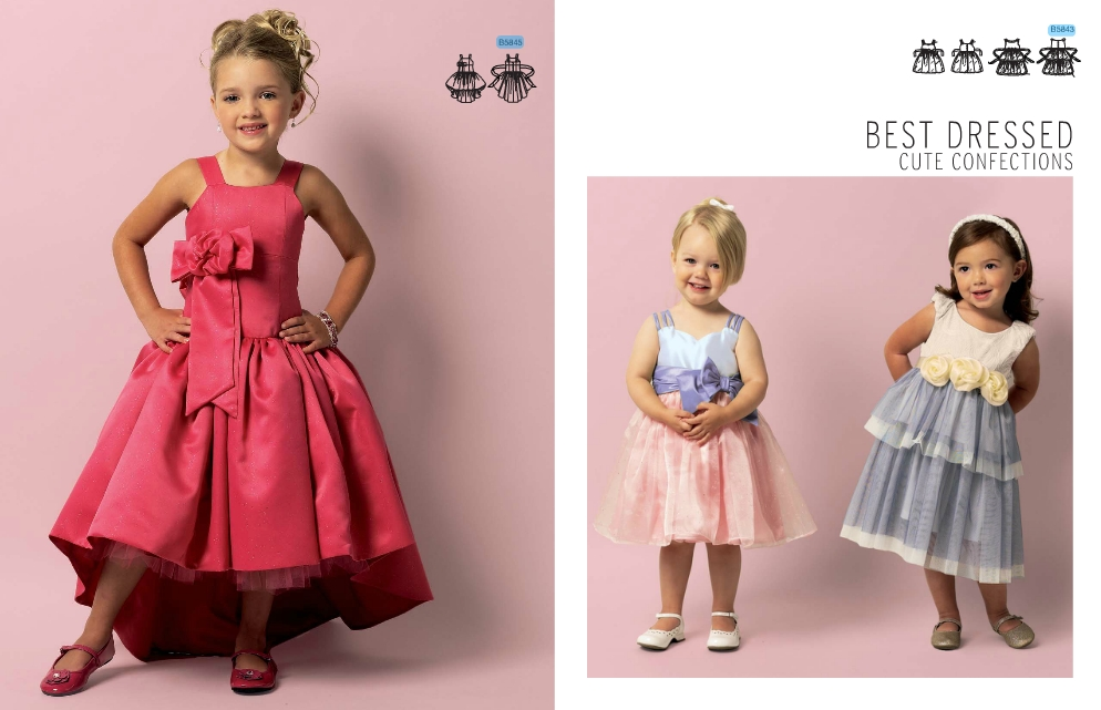 Patron de robe de soiree pour petite fille